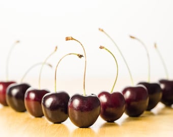 Cherry Chorus Line: 8x10 food picture; available in other sizes.