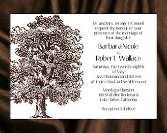 Oak Tree Wedding Invitation & RSVP - OakTree Wedding Invitations Oak Tree Invitation and RSVP - Tree Design 43