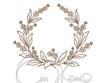 MACHINE EMBROIDERY FILE - Flower ornament