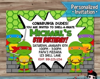 Free Printable Ninja Turtle Birthday Invitations Gangcraft Net
