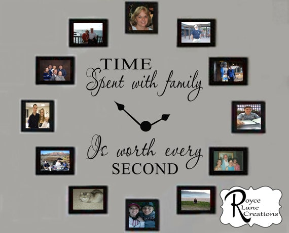 Time Spent With Family Decal 4 Time Spent With Family Clock