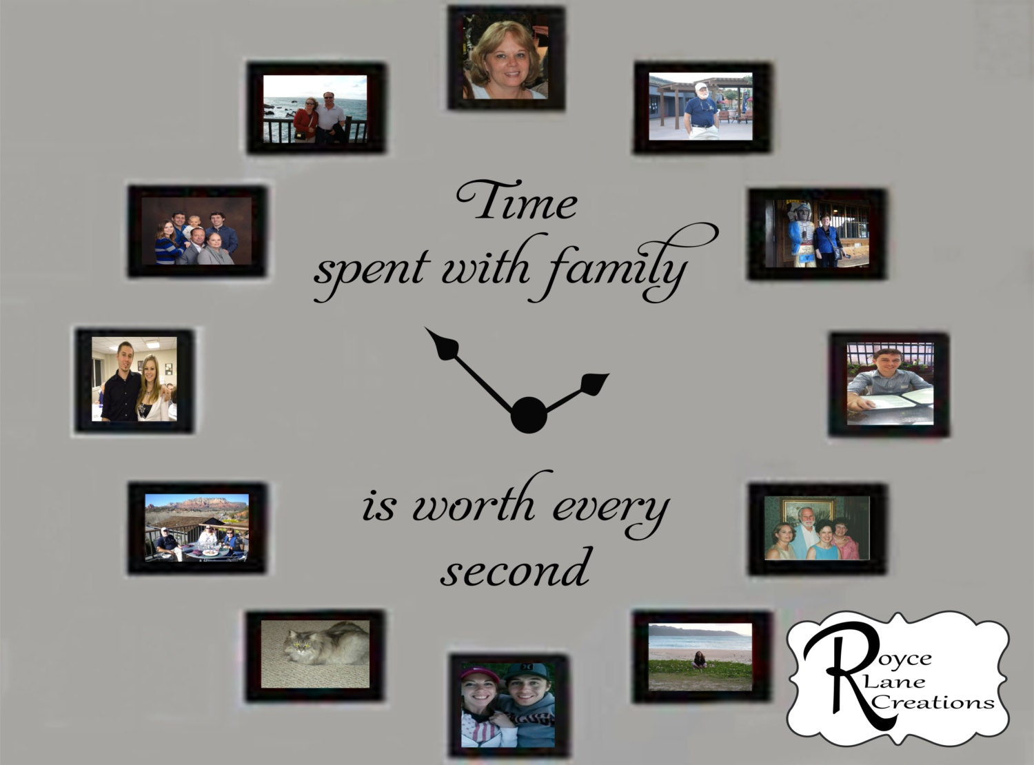 Time Spent With Family Decal 2 Time Spent With Family Clock