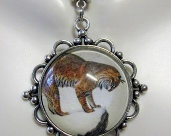 Lynx pendant with chain - CAP26-032