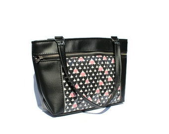 SAMPLE SALE! Heart Handbag Vinyl Rockabilly Purse - Femme Fatale Handbags Inc, Pinup, love, hearts, vintage style