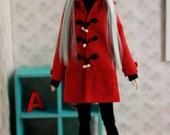 Toggle Coat for Momoko doll, fits Unoa Quluts light, Pullip, Obitsu, j-doll