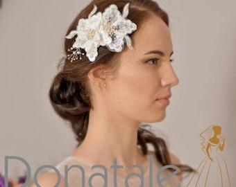 Wedding Hair Comb Bridal Hair Comb Bridal Headpiece Hair Comb Head piece  -  CHANELLE