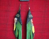 Earrings .:. Rainbow Lorikeet Wings