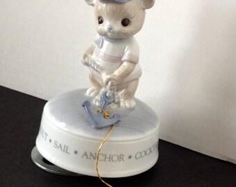 1985 Porcelain Bear Musical Figurine