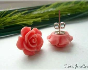 Flower Ear Studs - Resin, Nickel Free Studs - 5 Colours to Choose From