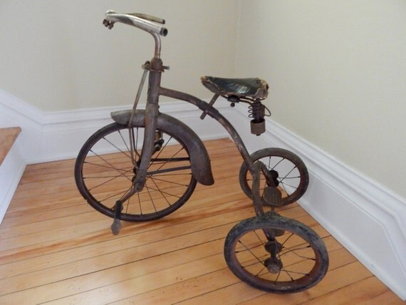 Makers Of Antique Tricycles : Antique cyclone tricycle trike child s bicycle bike