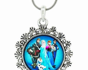 Clearance ~ Frozen Necklace With Six Characters!  Perfect for Birthday Favors!