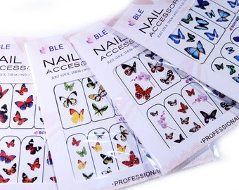 Nail Art Water Transfer - Butterflies x 4