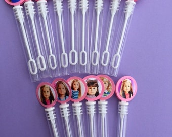 American Girl Doll birthday party American girl doll party favor bubble wands tea party favor tea party decorations