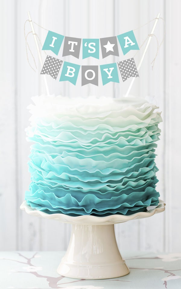 Mini Bunting Cake Decoration