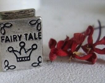 Fairy Tale Book Metal Bead