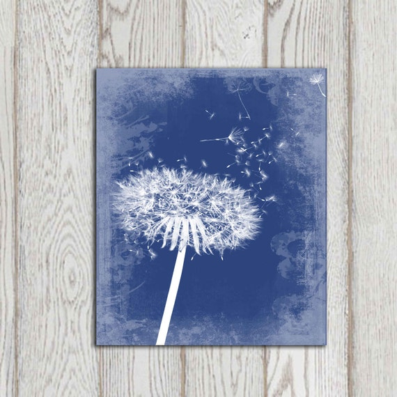 Navy Blue Home Decor Dandelion Decor Printable Navy By