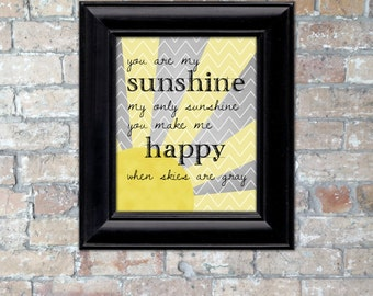"Chevron ""You are my Sunshine..."" Word Art {Digital Download}"