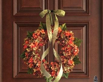 Wreath | Blended Hydrangea Wreath | Front Door Wreaths | Door Decor | Wreaths | Hydrangea Wreath | Housewarming Gift