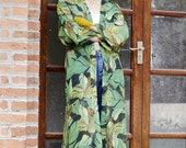 Lost in Kyoto collection green leaves forest kimono dress/outwear