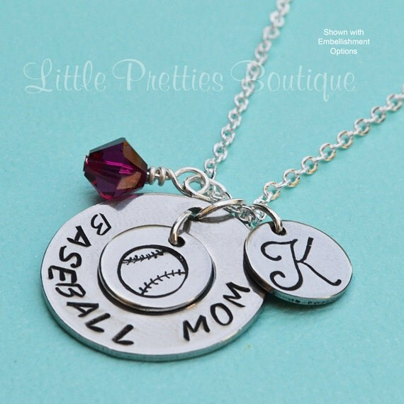 baseball mom necklace hand stamped mom necklace women 39 s