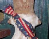 SALE Primitive Americana Libby  tuck bowl filler doll