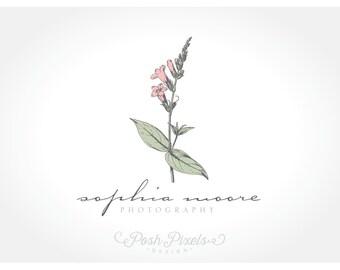 Logo Design (Premade) Floral Logo, Vintage Logo, Photography Logo, Boutique logo, Flower logo
