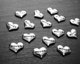 Movies Floating Charm for Floating Lockets-Silver Heart-Gift Ideas for Women