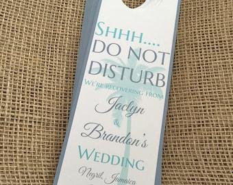 Wedding Door Hanger, Destination Wedding Door Hanger, Beach Wedding Door Hanger, Door Hangers, Door Hanger Wedding, Printed Door Hanger