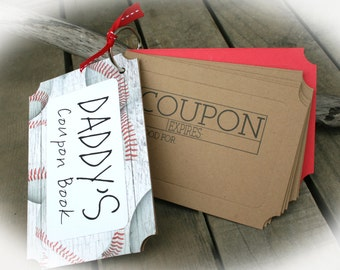 Daddy's Coupon Book- Daddy Gift Idea- Daddy Birthday Gift Idea- Xmas stocking stuffer- child's parent gift