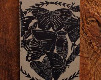 Butterfly & Moth Silkscreen Notebook