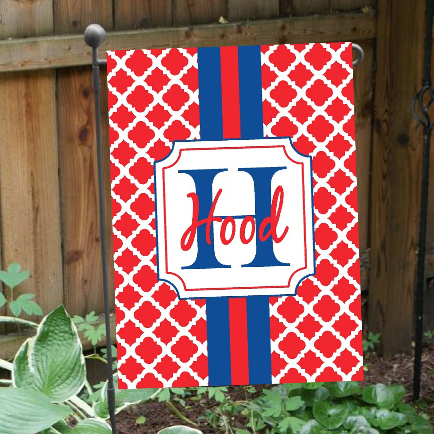 Personalized Flag Double Sided Monogrammed Flag Garden
