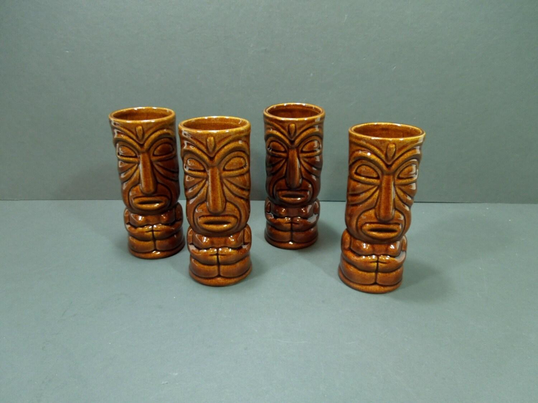 tiki glasses ceramic tiki glass tropical glassware