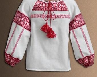 Ukrainian blouses. National Ukrainian clothing. Women's blouse. Red. Different sizes.