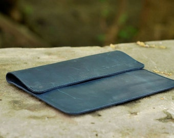 iPad Case, tablet leather case, iPad mini case, handmade iPad case, tablet case, C015 Blue