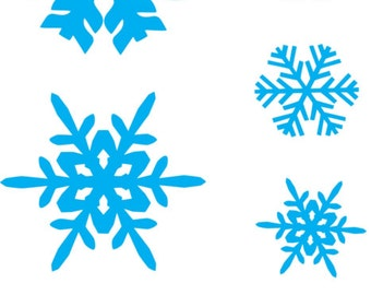 Christmas snowflakes Removable wall Stickers, Removable Wall Decals , Nursery wall decal, home decor, gift