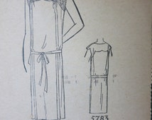 1920s Women's Nightgown Dress Lingerie Sewing Pattern Minerva 5783 Bust 34
