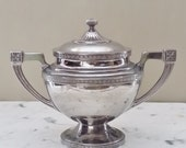 Vintage Silverplate Bowl with Lid