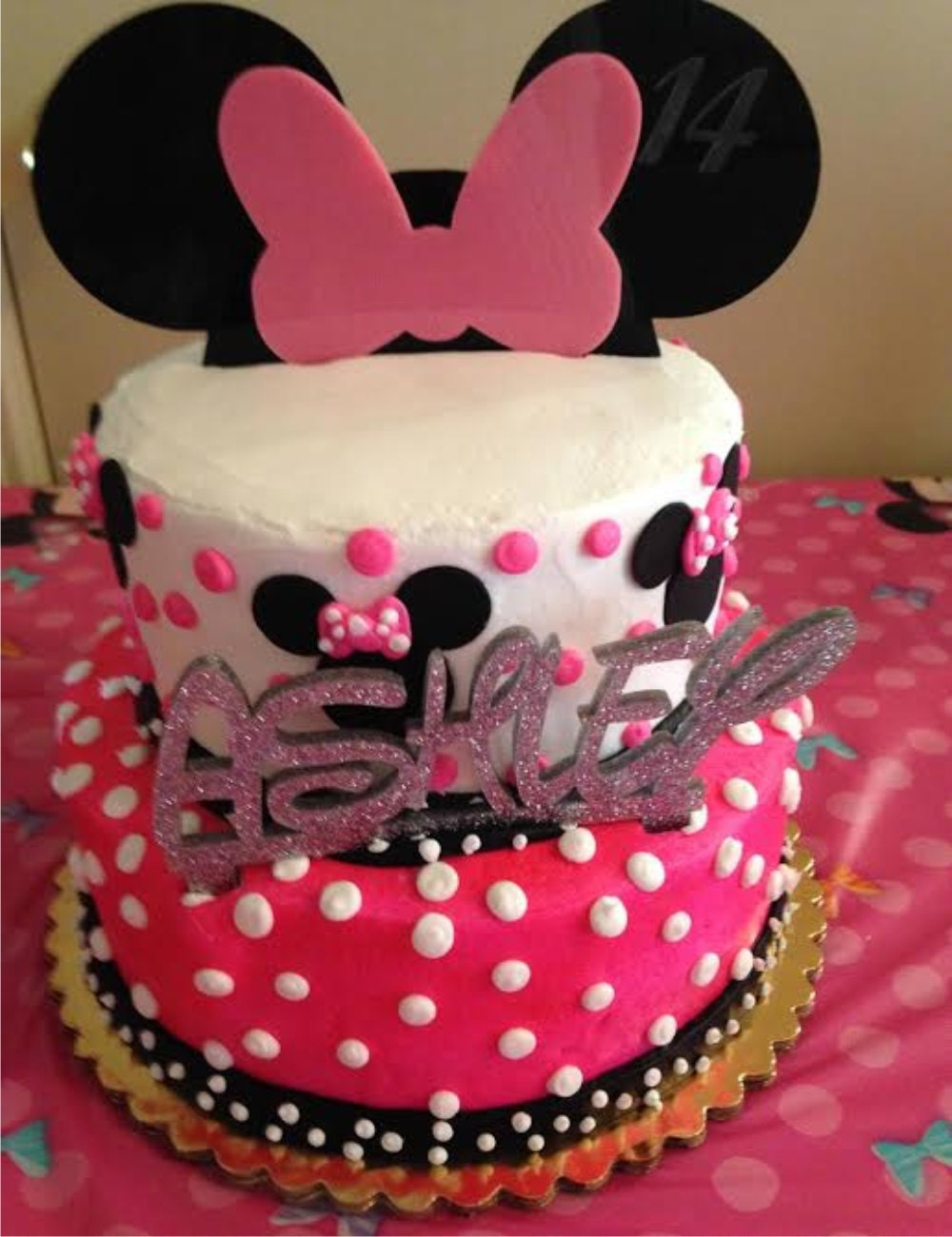 Minnie Mouse Inspired Cake Topper Minnie Birthday Party Disney