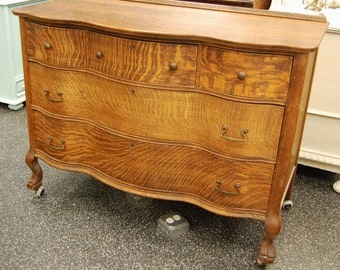 Items similar to beautiful antique early american tall boy for Wooden bureau knobs