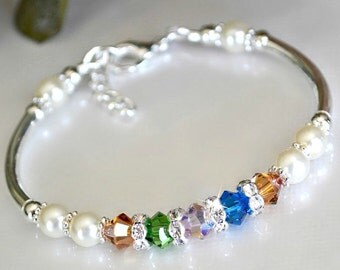 Mothers Birthstone Bracelet