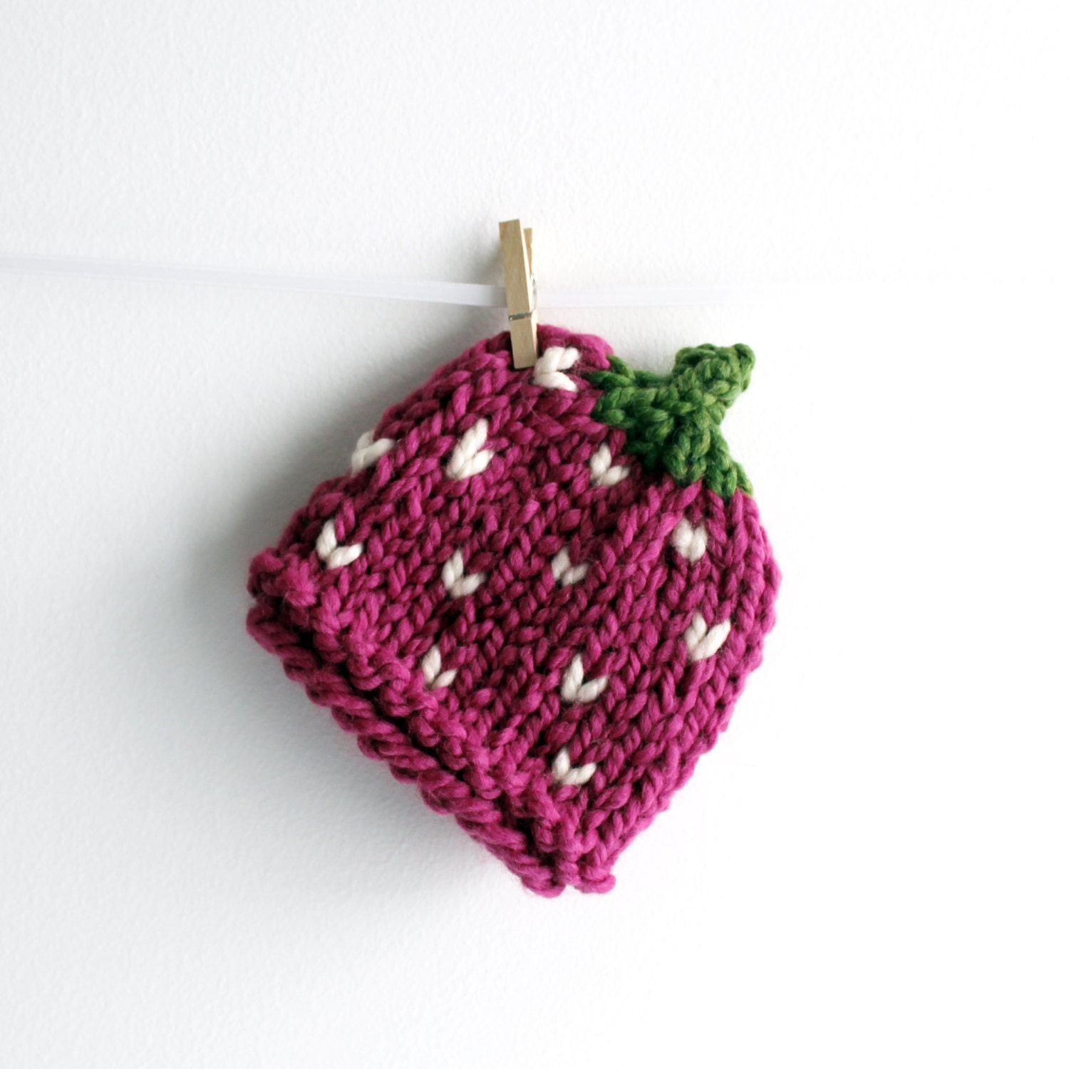 Strawberry Hat Baby Fruit Hats Knit Baby Costume by PeonyBlossoms