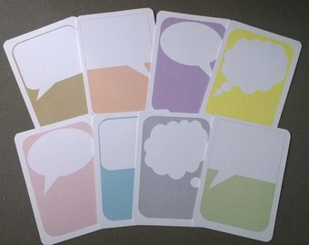 Journal cards - speech/thought bubbles SET OF 16