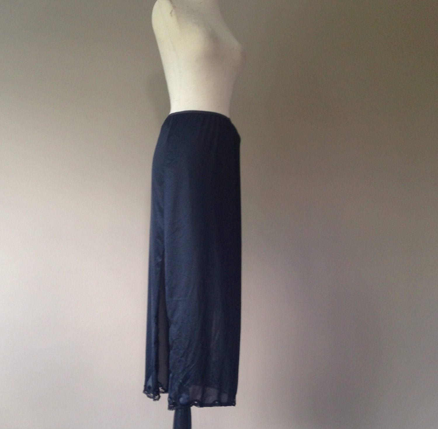 l half slip skirt maxi black with by