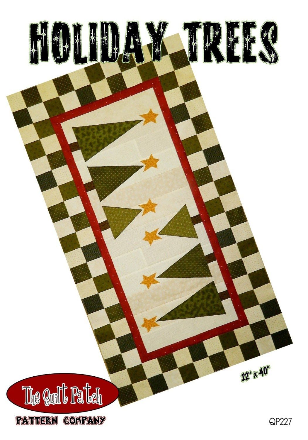 Christmas Tree Table Runner Pattern Holiday Trees Qp229 Quilt