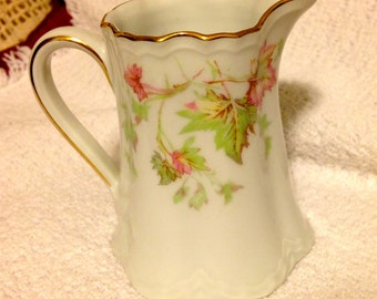 Hutschenreuther Maple Leaf Creamer, Vintage  Maple Leaf Scalloped Creamer, Racine shape