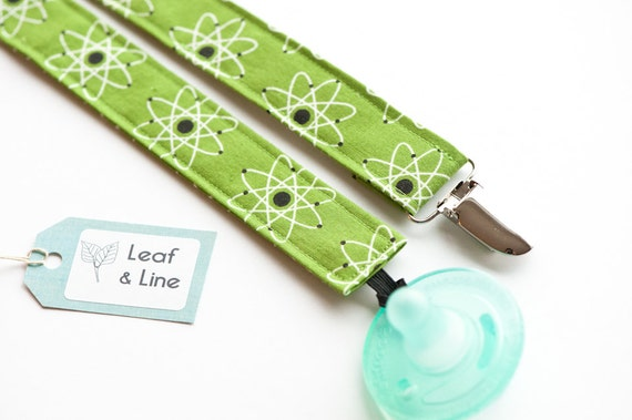 Science Baby Gifts Australia : Items similar to atomic baby pacifier clip green atom