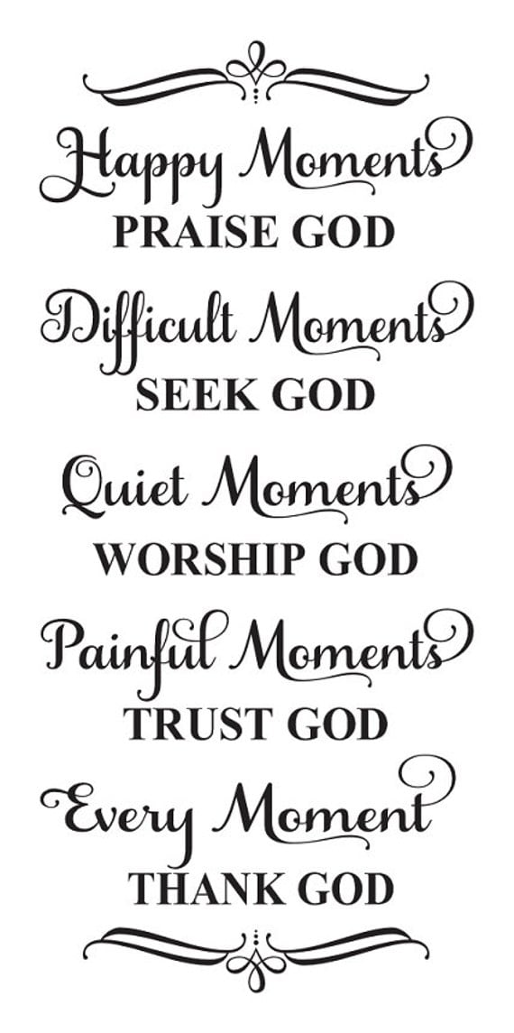 Inspirational stencil happy moments praise god every for Quote stencils for crafts
