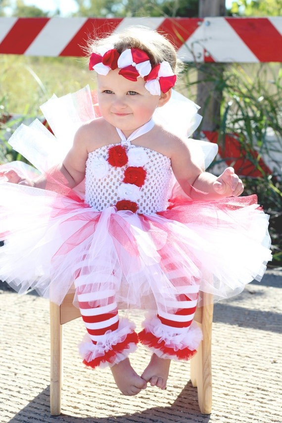 Items similar to Beautiful Candy Cane Tutu Dress Headband