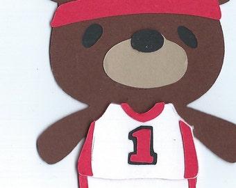 Teddy Bear Athlete Die Cut