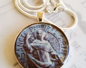 "St Philip Apostle Pendant with 20"" Sterling Silver Chain - 32mm"